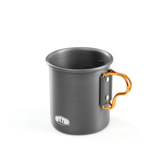 GSI Outdoors HALULITE 14 fl. oz. Aluminum Bottle Cup with meaurments
