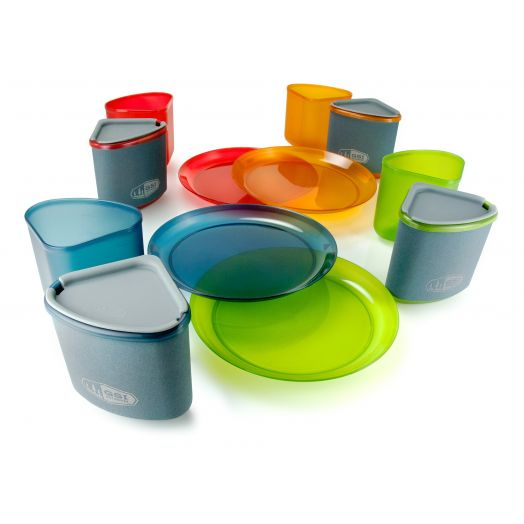 GSI Outdoors Infinity 4 Person Compact Tableset- Multicolor