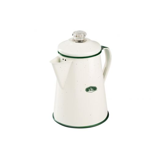 GSI Outdoors enamel 8 cup percolator, deluxe cream