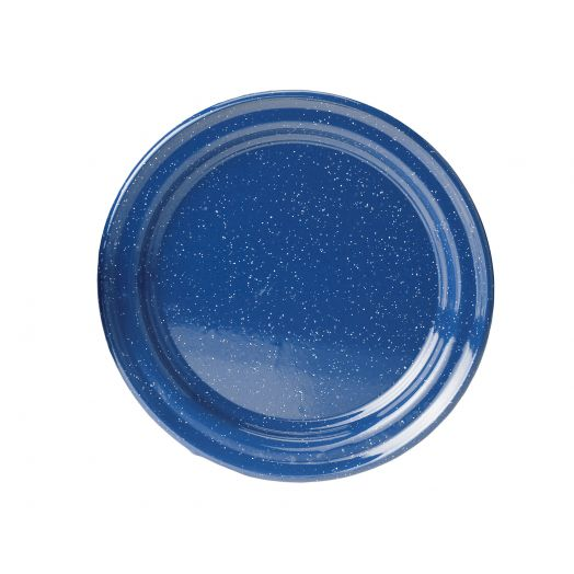 GSI Outdoors  Classic Speckled 10 inch Plate, Blue