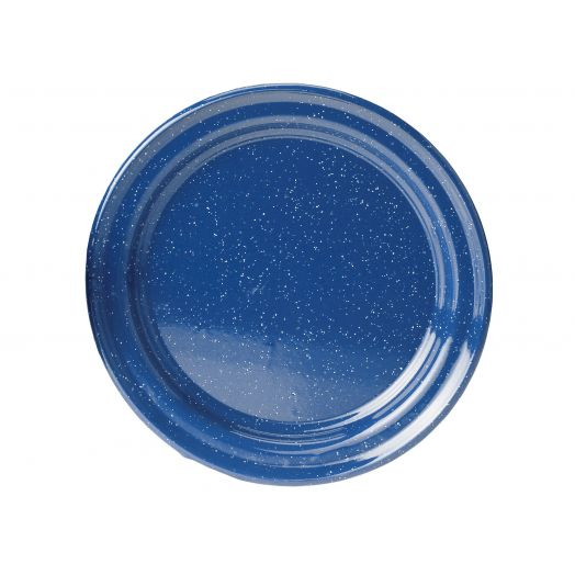 GSI Outdoors  Classic Speckled 12.5 inch Plate, Blue