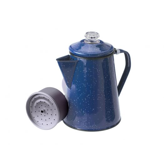 GSI Outdoors Blue Enamelware 8 cup Percolator