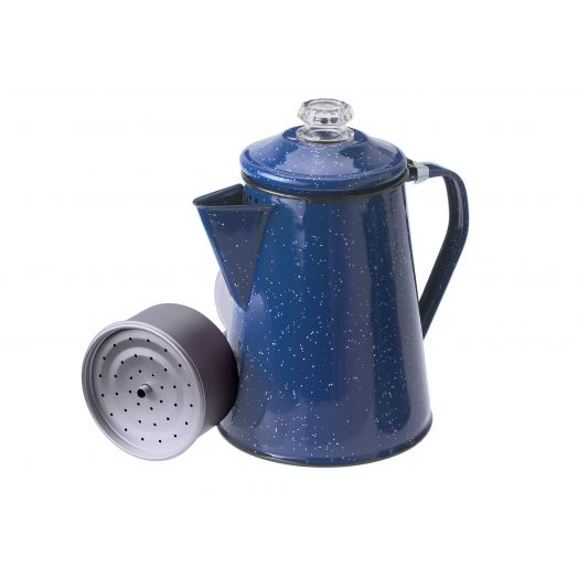 GSI Outdoors Blue Enamelware 12 cup Percolator