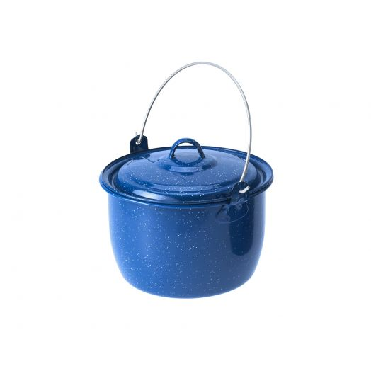 GSI Outdoors Enamelware 3 qt. Convex Kettle, Blue