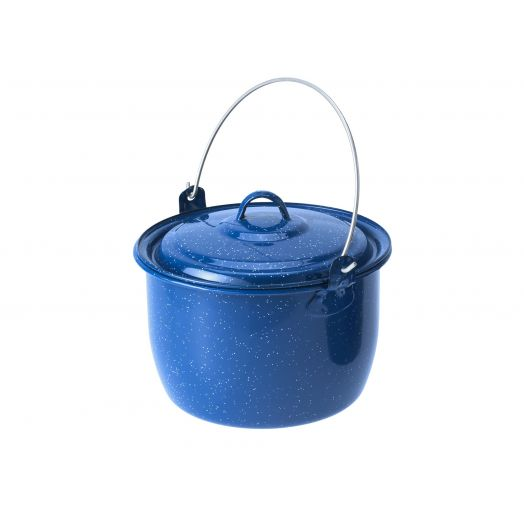 GSI Outdoors Enamelware 4.25 qt. Convex Kettle, Blue