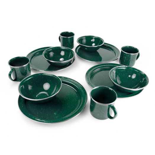 Four Person Pioneer Enamelware Table Set