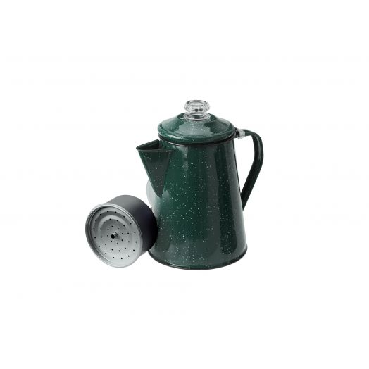 GSI Outdoors Enamelware 8 cup Percolator, green