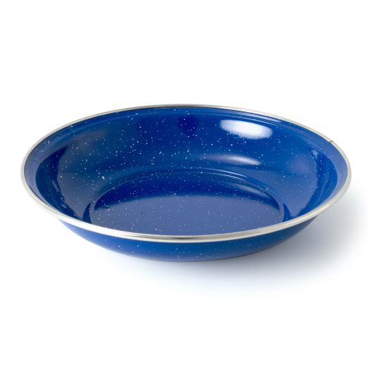 GSI Outdoors Classic Speckled Pioneer with stainless rim Cereal Bowl, Blue