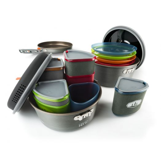 GSI Outdoors Pinnacle Camper, Four- person Non stick Camp Cookset