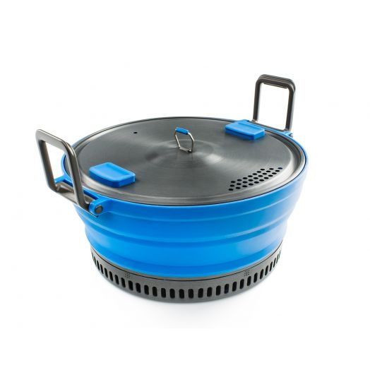 GSI Outdoors ESCAPE HS 2 Liter Pot, Collapsible Camping Cook Pot, Blue