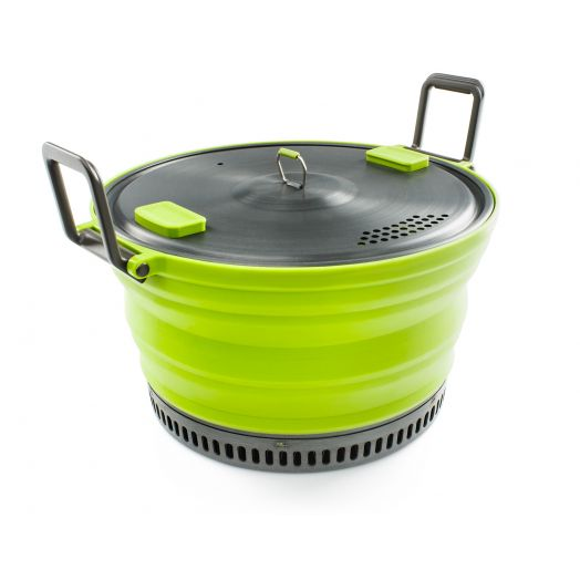 GSI Outdoors ESCAPE HS 3 Liter Pot, Collapsible Camping Cook Pot, Green