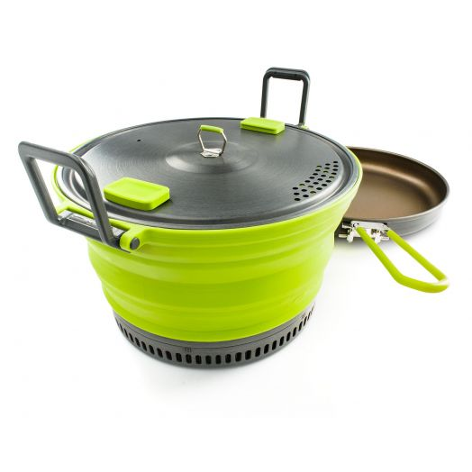 GSI Outdoors Escape HS silicon collapsible Cook Pot + fry pan
