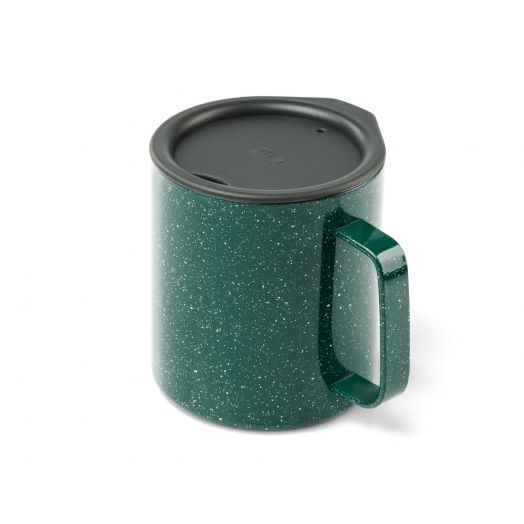 GSI Outdoors Glacier Stainless 15 fl. oz. Camp Cup- Green Speckle