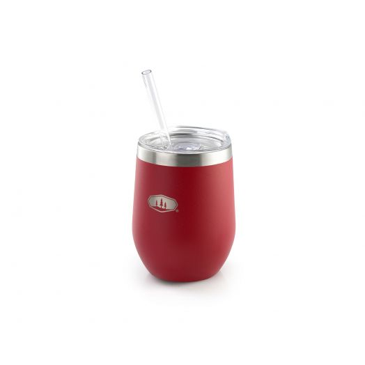 Glacier Stainless Tumbler- Haute Red
