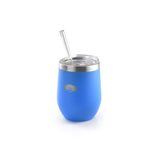Glacier Stainless Tumbler- Blue Aster