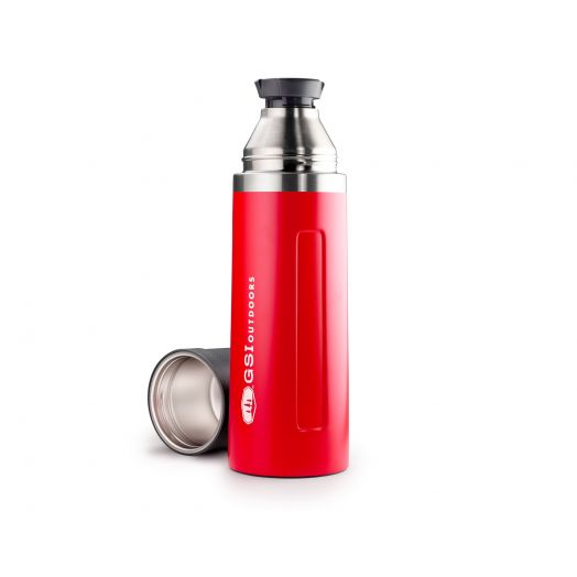 GSI Outdoors Glacier Stainless 1 Liter Vacuum Bottle- Red
