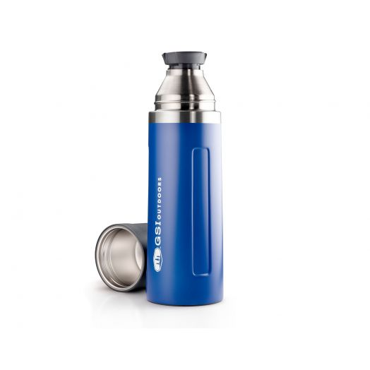 GSI Outdoors Glacier Stainless 1 Liter Vacuum Bottle- Blue