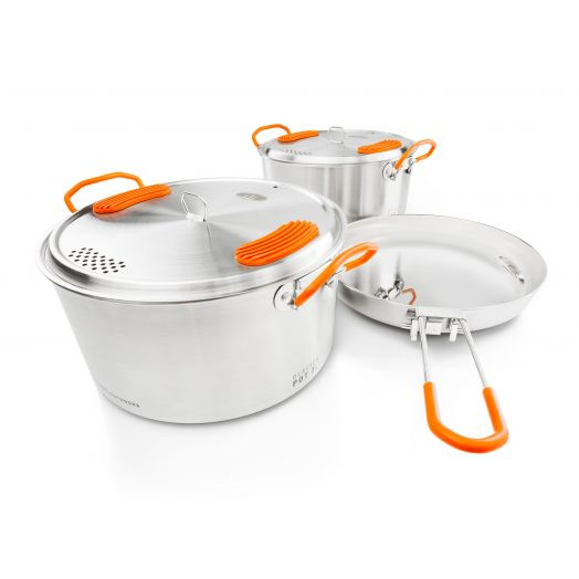 Glacier Stainless Base Camper Medium, Family Camp Cookset
