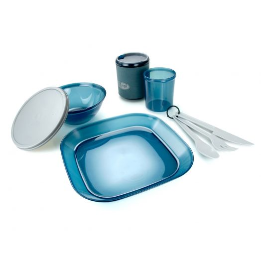 GSI Outdoors Infinity 1 Person Tableset- Blue