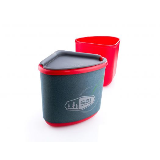 GSI Outdoors Gourmet Nesting Mug + Bowl- Red
