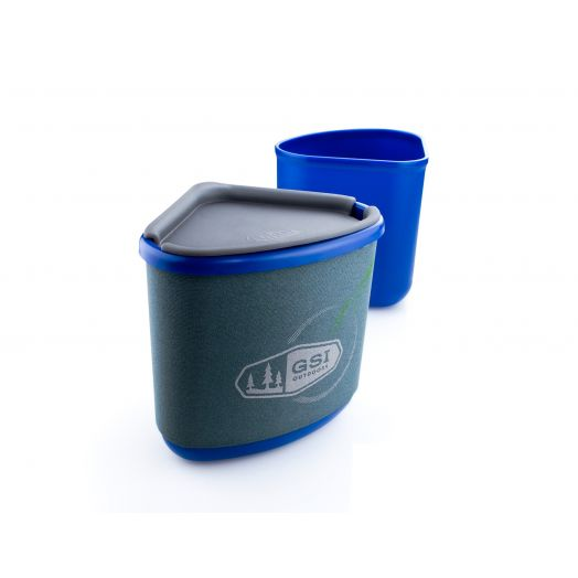 GSI Outdoors Gourmet Nesting Mug + Bowl- Blue