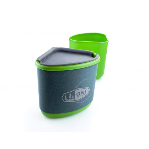 GSI Outdoors Gourmet Nesting Mug + Bowl- Green