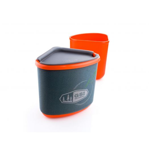 GSI Outdoors Gourmet Nesting Mug + Bowl- Orange