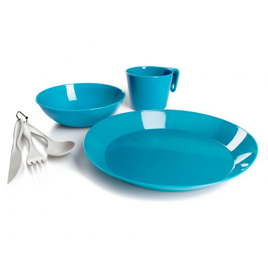 GSI Outdoors Cascadian 1 Person Table Set- Sky Blue
