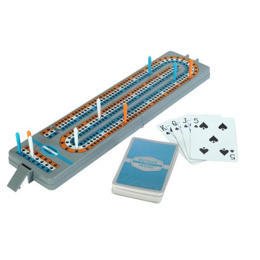 Outside Inside Travel Backpack Cribbage Board