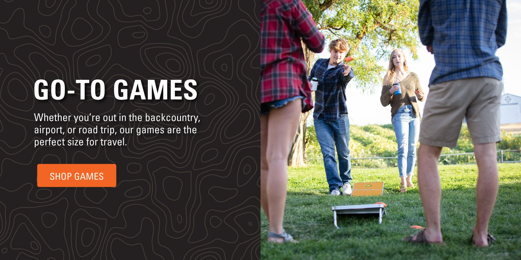 Whether you're out in the backcountry, airport, or road trip, our games are the perfect size for travel. Shop Games.